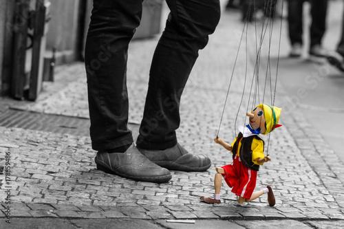 Fotografie, Obraz pinocchio puppet in prague