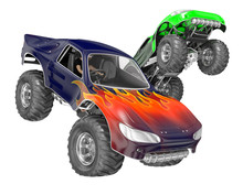 Sports Monster Truck Jumping. ...