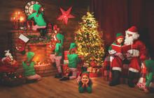 Santa Claus And Little Elves B...