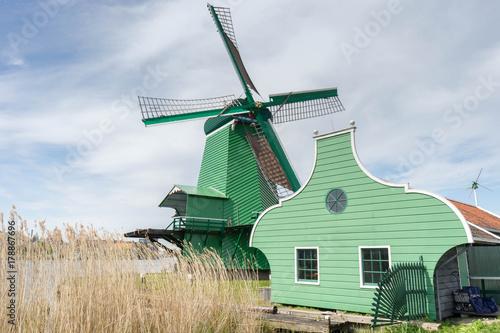Plakat Wiatrak w Zaanse Schans, Holandia