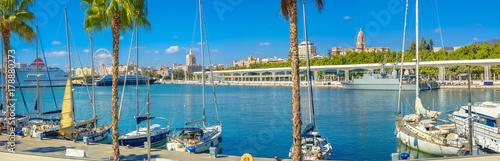 Malaga seaport. Andalusia, Spain Fototapeta