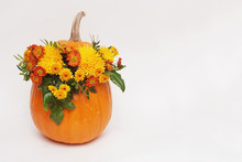 Autumn Flower Arrangement In P...