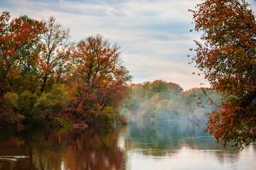 Obraz Beautiful morning on the river