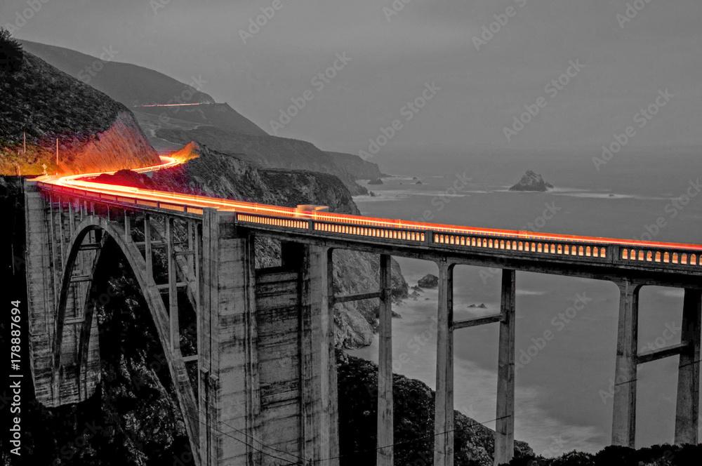 Fototapeta Bixby Bridge Lights