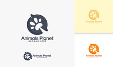 Animals Planet Logo Designs Ve...