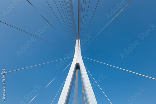 Papiers peints Pont cable-stayed bridge closeup