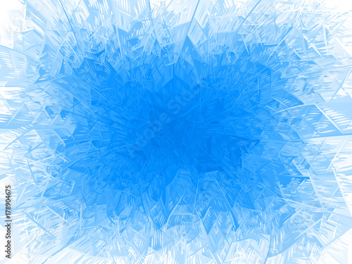 Vector blue frost frame Canvas Print