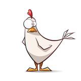 Fototapeta Fototapety na ścianę do pokoju dziecięcego - Funny, cute cartoon hen characters. Vector eps 10