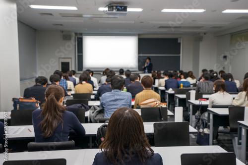 Fotomural 大学の教室でのプレゼンテーションのイメージ
