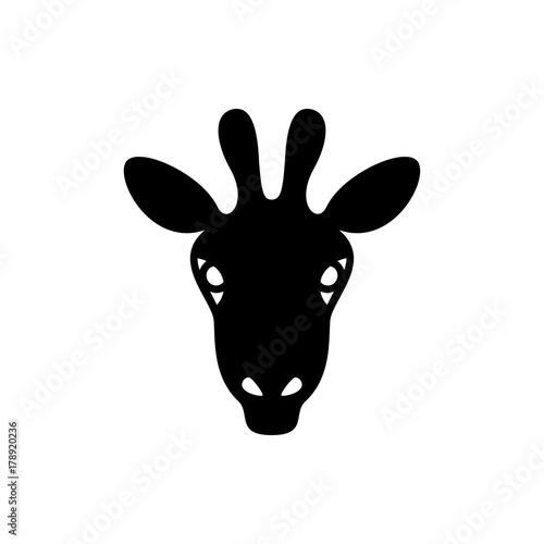 giraffe icon illustration Poster