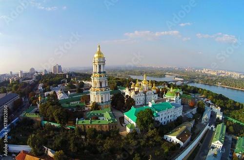 Staande foto Kiev Kiev-Pechersk Lavra, Aerial View
