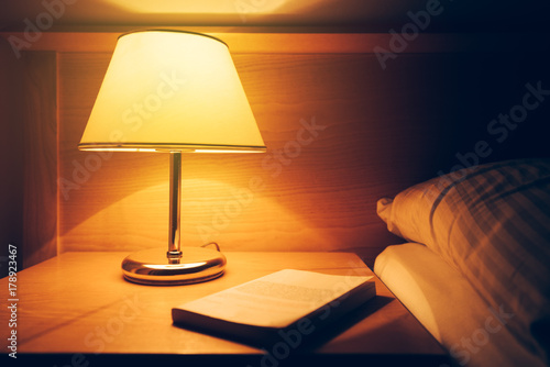 Retro bedside lamp Canvas Print