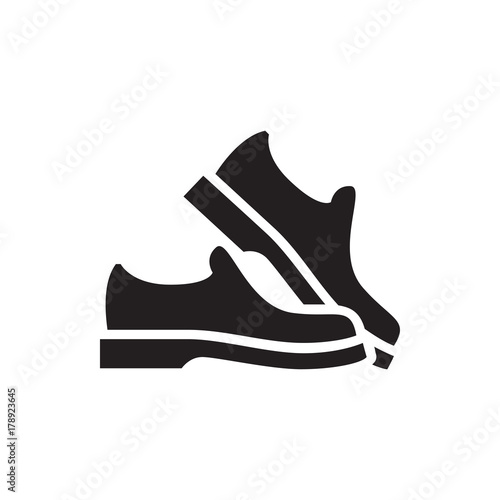 Cuadros en Lienzo man shoe icon illustration
