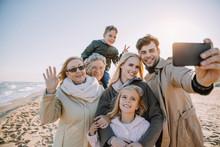 Multigenerational Family Taking Selfie