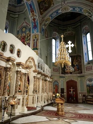 Foto op Plexiglas Kiev Sankt Michaels Vydubytsky Kirche in Kiew (Ukraine)