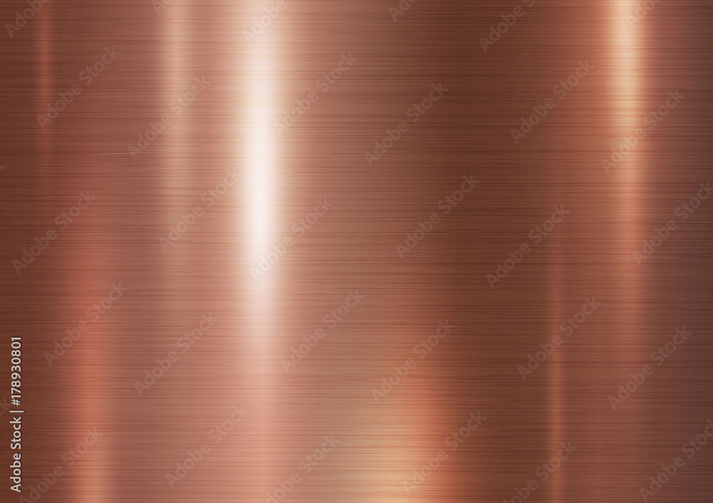 Fototapety, obrazy: Copper metal texture background vector illustration