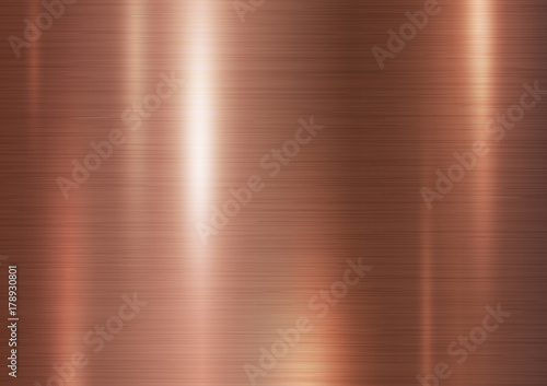 Photo sur Toile Metal Copper metal texture background vector illustration