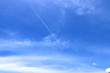 blue sky with clouds and moving