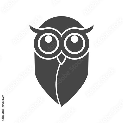 Photo Stands Owl icon, Owl logo, Owl illustration