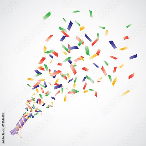 Obraz Vector confetti popper - fototapety do salonu