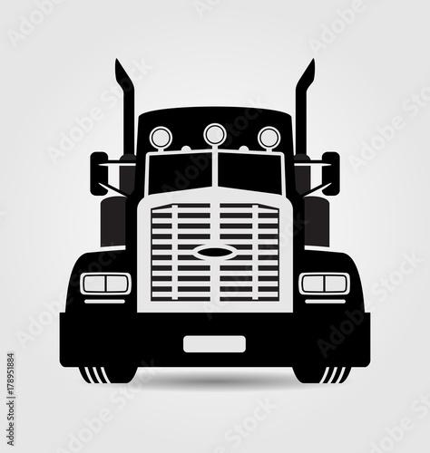 Fotomural Generic semi-trailer truck