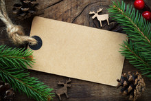 Kraft Paper Empty Tag With Chr...
