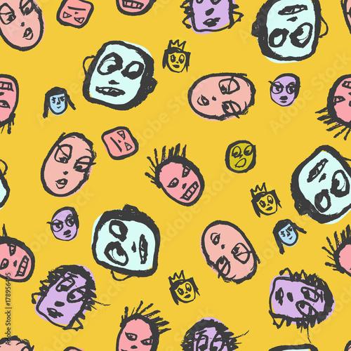 doodles-wzor-twarzy