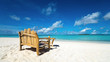 Sitting place and table in a tropical beach