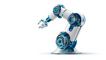 Robotic Arm 3d On White Backgr...