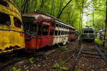 Abandoned Vintage Trolley / St...