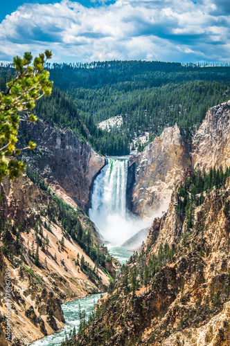 Fototapeta Lower Yellowstone falls