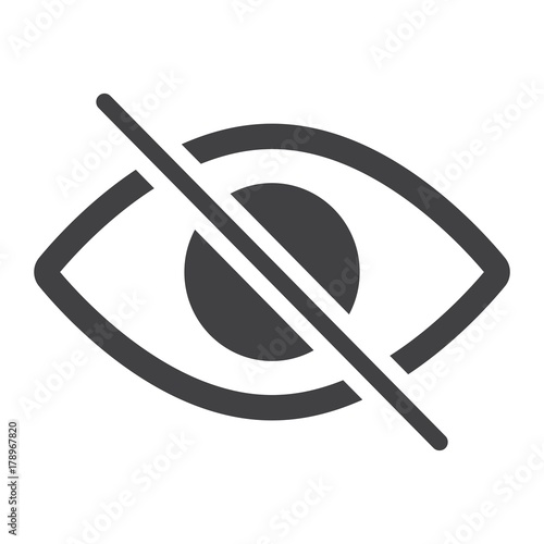 Photo Do not spy glyph icon, web and mobile, not visible sign vector graphics, a solid pattern on a white background, eps 10