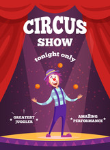 Invitation Poster For Circus S...