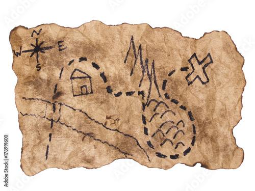 Fotografie, Obraz  Treasure Map