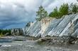 Marble quarry, coniferous forest