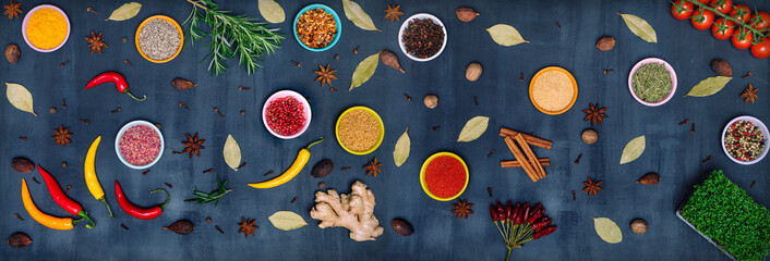 FototapetaVarious spices and herbs