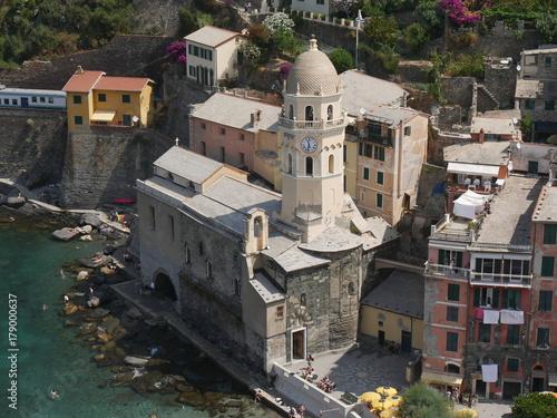 Fotografie, Obraz  Vernazza - panorama dal Castello dei Doria e dalla Torre del Belforte