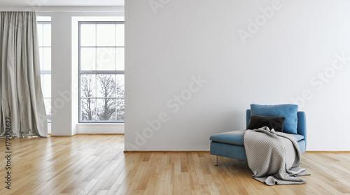 Obraz Modern bright interiors. 3D rendering illustration - fototapety do salonu