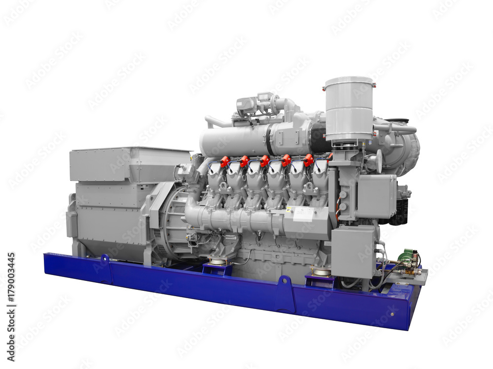 Poster, Foto Gas piston diesel electric generator isolated