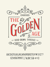 THE GOLDEN AGE FONT. Old Retro...