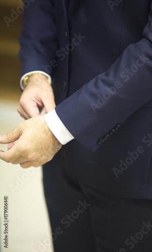 Fototapety, obrazy: Groom in civil wedding suit