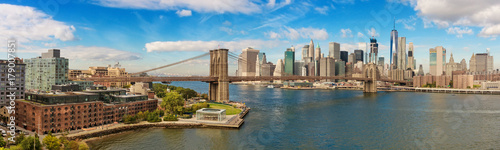 Poster Brooklyn Bridge Brooklyn Bridge and Cityscape of New York