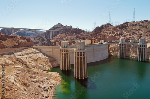 In de dag Dam Hoover Dam, USA
