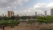 Gimbal shot of Nairobi skyline. Kenya, Africa.