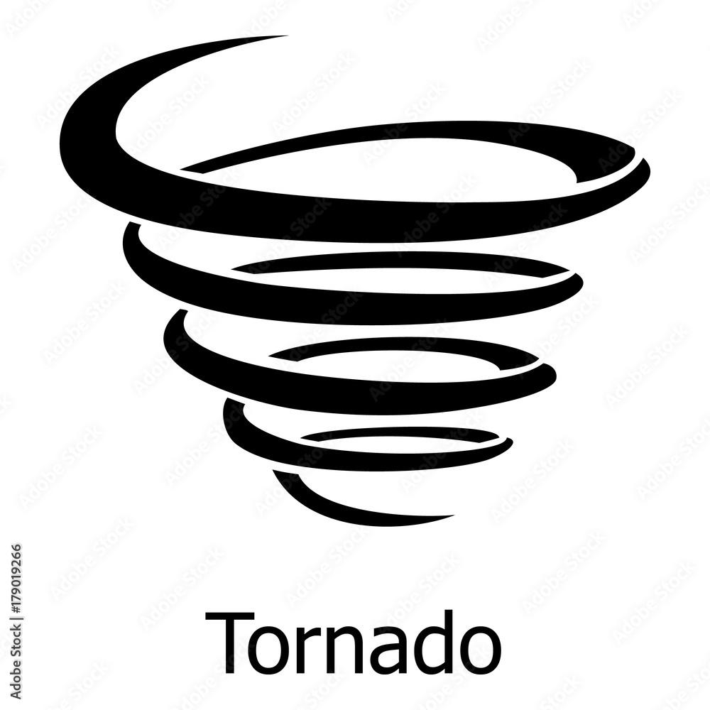 Fototapeta Tornado icon, simple style