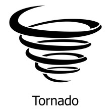 Tornado Icon, Simple Style