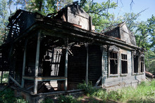 Burned Rural House After Fire ...