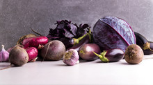 Assortment Of Purple And Red V...