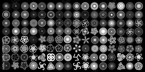 Fotografie, Obraz  Sacred geometry signs set