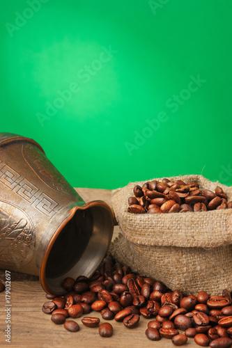 Cadres-photo bureau Café en grains Coffee in a bag